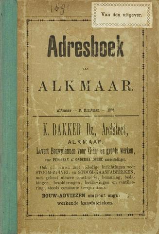 Adresboek van Alkmaar 1891-01-01