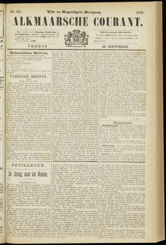 Alkmaarsche Courant 1892-09-30