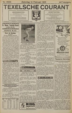 Texelsche Courant 1931-02-14