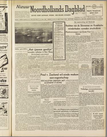 Nieuw Noordhollandsch Dagblad : voor Alkmaar en omgeving 1949-07-02