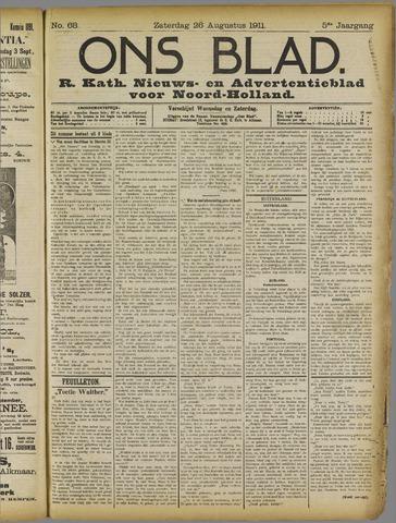 Ons Blad : katholiek nieuwsblad voor N-H 1911-08-26
