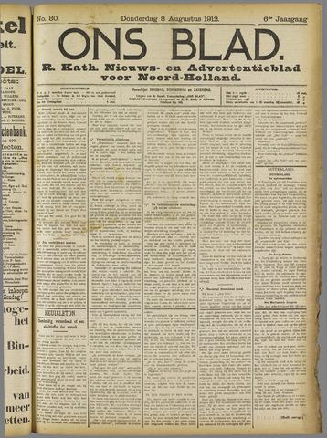 Ons Blad : katholiek nieuwsblad voor N-H 1912-08-08