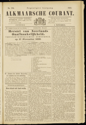 Alkmaarsche Courant 1888-11-04