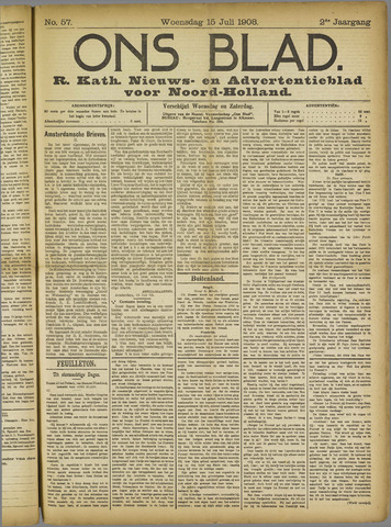 Ons Blad : katholiek nieuwsblad voor N-H 1908-07-15