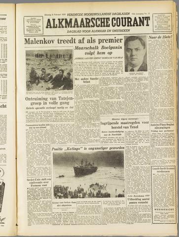Alkmaarsche Courant 1955-02-08