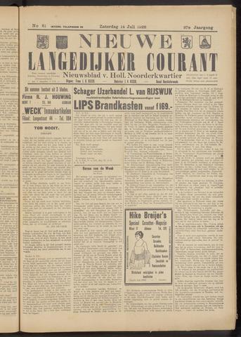 Nieuwe Langedijker Courant 1928-07-14
