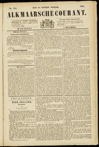 Alkmaarsche Courant 1886-12-01