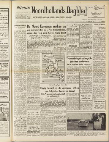 Nieuw Noordhollandsch Dagblad : voor Alkmaar en omgeving 1950-07-07