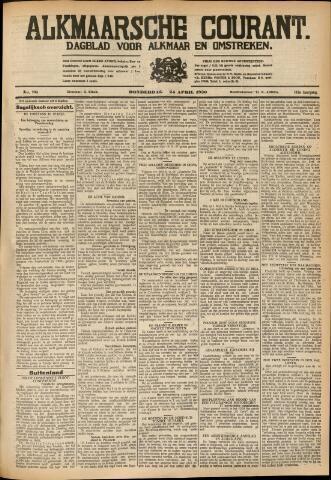 Alkmaarsche Courant 1930-04-24