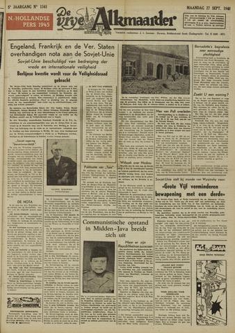 De Vrije Alkmaarder 1948-09-27