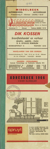 Adresboek van Alkmaar 1966-01-01