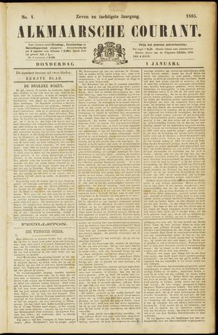 Alkmaarsche Courant 1885-01-01