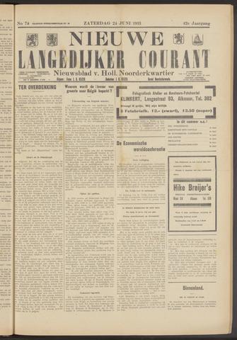 Nieuwe Langedijker Courant 1933-06-24