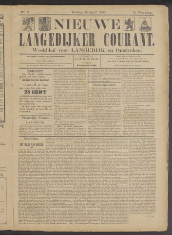 Nieuwe Langedijker Courant 1896-04-26