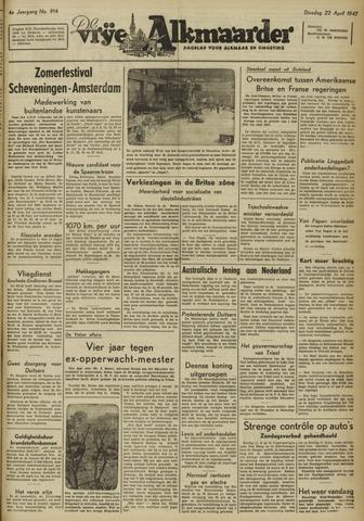 De Vrije Alkmaarder 1947-04-22