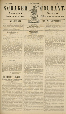 Schager Courant 1883-11-25