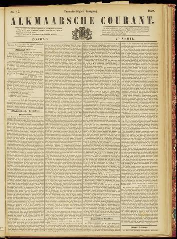 Alkmaarsche Courant 1879-04-27