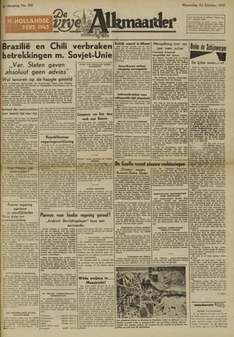 De Vrije Alkmaarder 1947-10-22