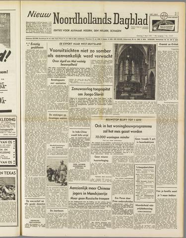 Nieuw Noordhollandsch Dagblad : voor Alkmaar en omgeving 1951-04-07