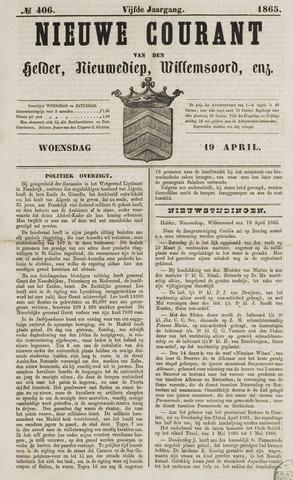 Nieuwe Courant van Den Helder 1865-04-19