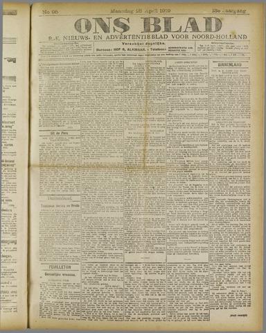 Ons Blad : katholiek nieuwsblad voor N-H 1919-04-28
