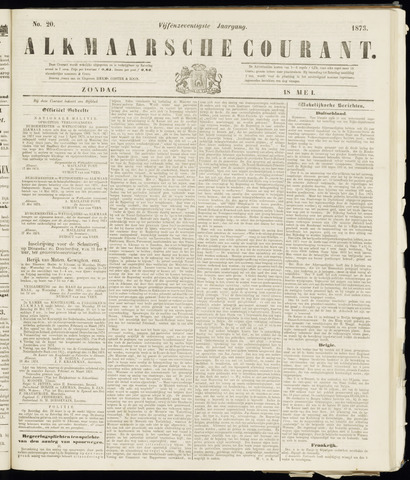 Alkmaarsche Courant 1873-05-18