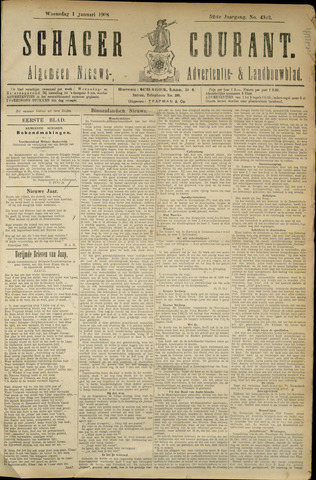 Schager Courant 1908
