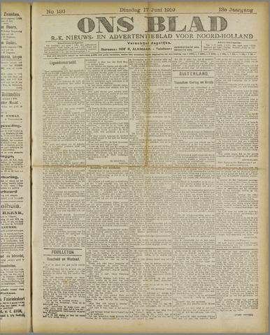 Ons Blad : katholiek nieuwsblad voor N-H 1919-06-17