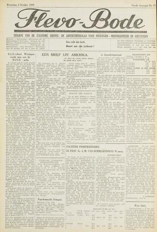 Flevo-bode: nieuwsblad voor Wieringen-Wieringermeer 1949-10-05