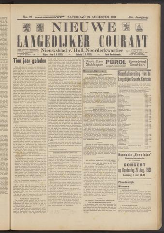 Nieuwe Langedijker Courant 1931-08-22