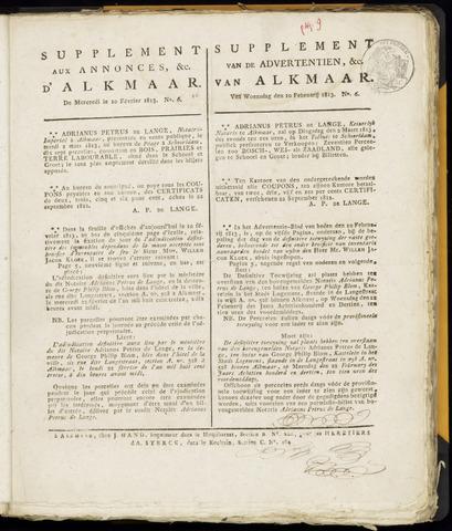 Alkmaarsche Courant 1813-02-10
