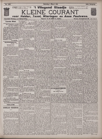 Vliegend blaadje : nieuws- en advertentiebode voor Den Helder 1913-03-08