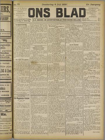 Ons Blad : katholiek nieuwsblad voor N-H 1916-07-06