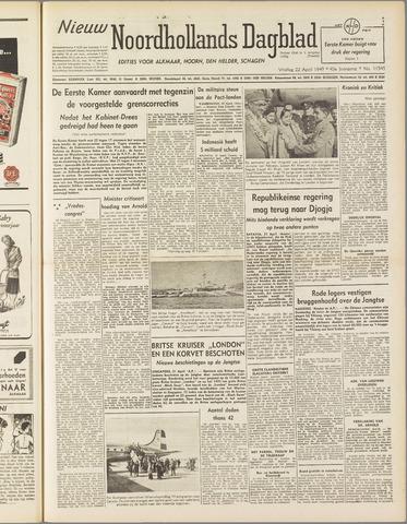 Nieuw Noordhollandsch Dagblad : voor Alkmaar en omgeving 1949-04-22