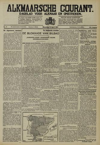 Alkmaarsche Courant 1937-04-19