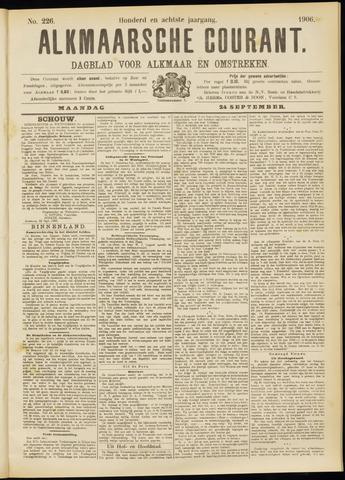 Alkmaarsche Courant 1906-09-24