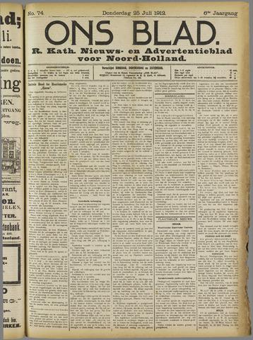 Ons Blad : katholiek nieuwsblad voor N-H 1912-07-25