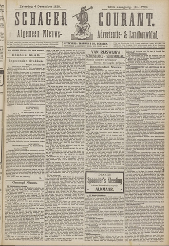 Schager Courant 1920-12-04