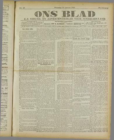 Ons Blad : katholiek nieuwsblad voor N-H 1920-01-26