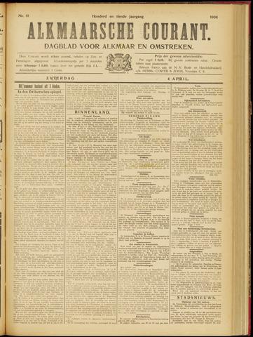 Alkmaarsche Courant 1908-04-04