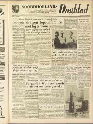 Noordhollands Dagblad : dagblad voor Alkmaar en omgeving 1958-06-26