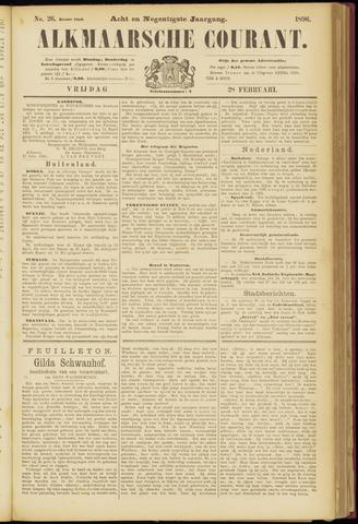 Alkmaarsche Courant 1896-02-28