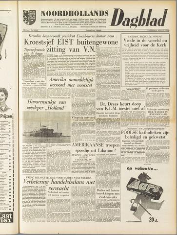 Noordhollands Dagblad : dagblad voor Alkmaar en omgeving 1958-08-06