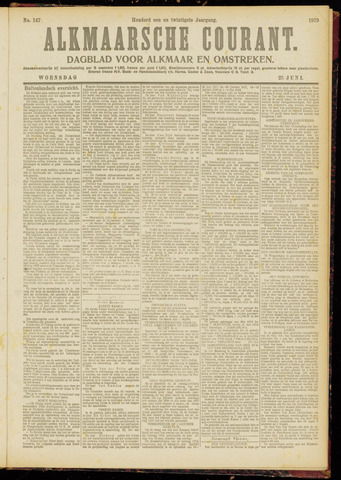Alkmaarsche Courant 1919-06-25