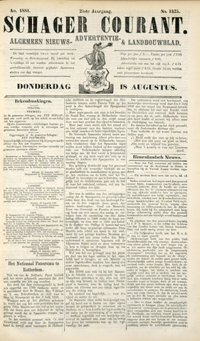 Schager Courant 1881-08-18