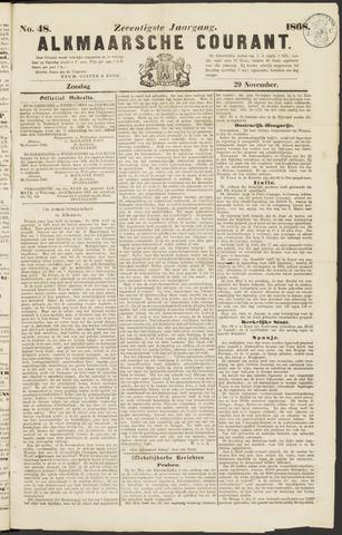Alkmaarsche Courant 1868-11-29