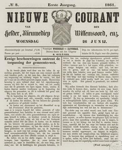 Nieuwe Courant van Den Helder 1861-06-26