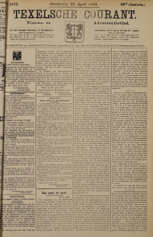 Texelsche Courant 1915-04-22