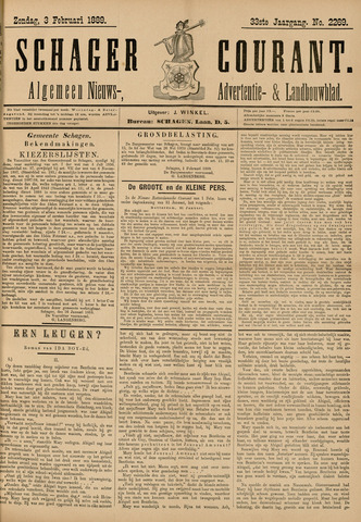 Schager Courant 1889-02-03