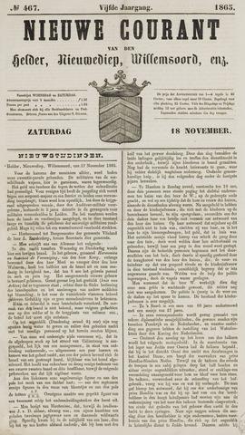 Nieuwe Courant van Den Helder 1865-11-18